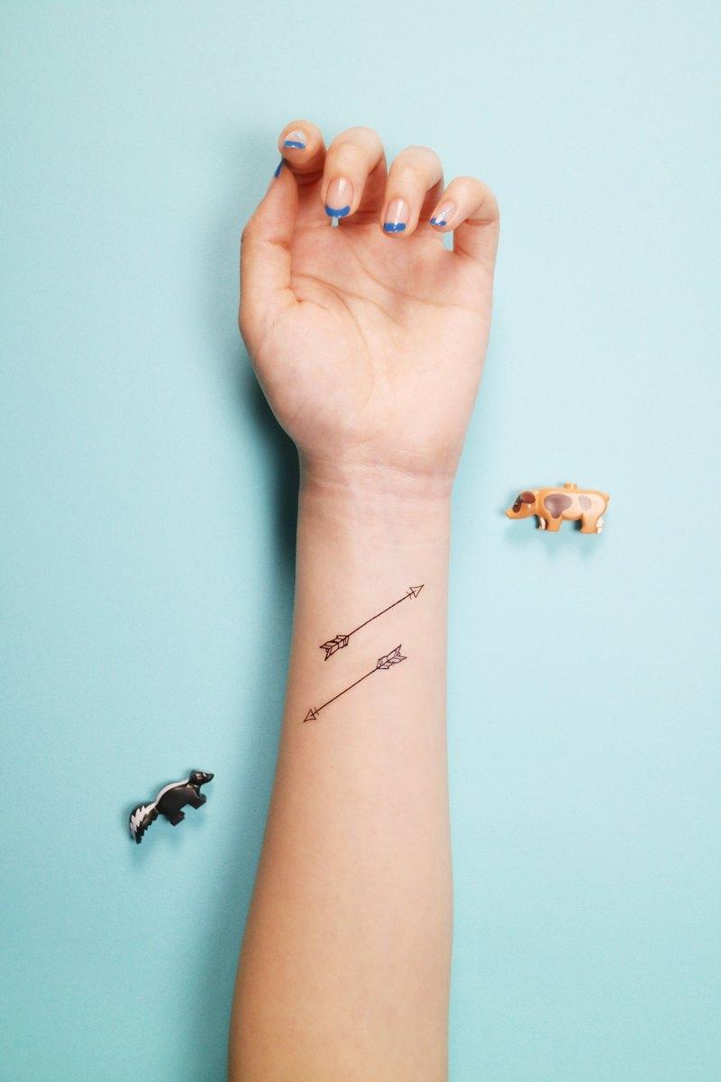 Deerhorn design / 鹿角 刺青 紋身貼紙 3入 箭 手繪