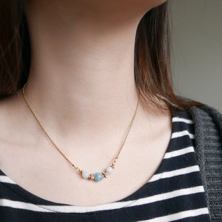 Limited. Song of the waves. Aquamarine clavicle chain