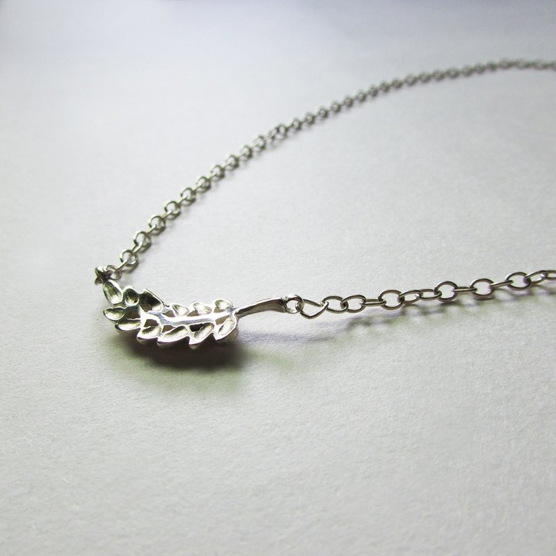 wheat necklace_Wheat ear necklace 925 sterling silver limited designer hand-made super free shipping