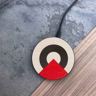 [Pre-order] log wireless charging tray / circus red
