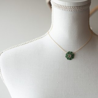 One flower necklace / khaki