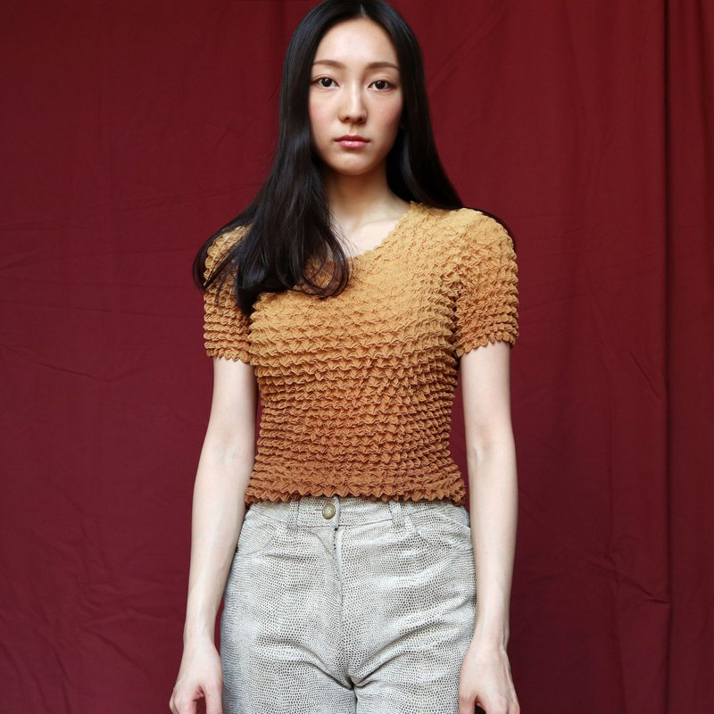 Pumpkin Vintage. Ancient three-dimensional elastic top