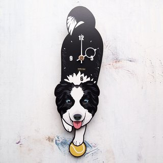 D-146 Border Collie (blue eyes) - Pet's pendulum clock