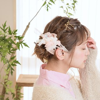 mini || Pastel : Blooming Sakiami Colourful Hair Scrunchy / Hair Accessory
