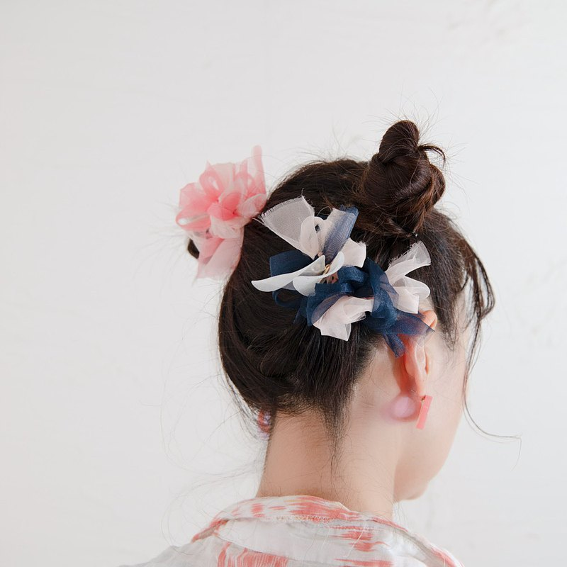 miffy × chiko | Colorful blooming barrette | navy