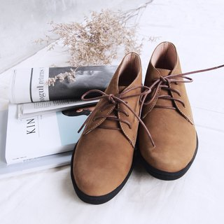 Nubuck Leather Desert Boots (Brown)
