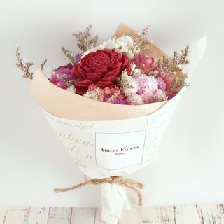 Elegant love you dry small bouquet graduation / gift / not withered / dry flowers / wedding small things