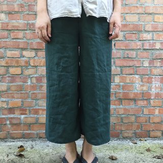 Pure linen sixteen Island seaweed color simple eight nine pants selected 20 color linen