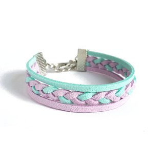 Handmade Double Braided Stylish Bracelets–purple limited