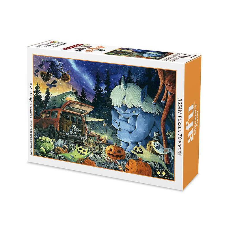 afu mini puzzle (70 pieces)-Halloween camping