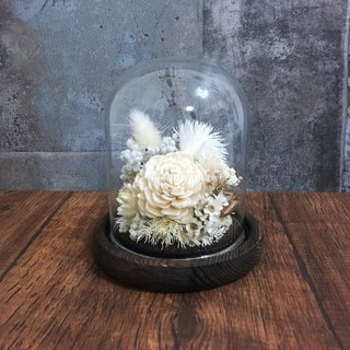| White Heart | Dry flowers. Spread the fragrant flower. Glass enamel. gift