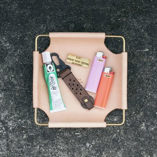 Brass edge tray leather handmade display products