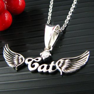 Customized heart .925 sterling silver jewelry AH00005- Angel Necklace