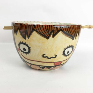 Nice Little Clay handmade big bowl boy girl 0201-19
