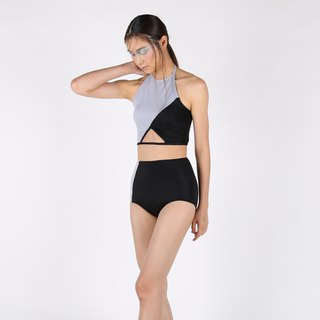 Tear Diamond set - BlackGray / swimwear / M