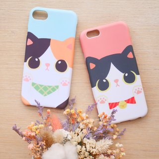 Fat cat phone case / ChiaBB TPU matte soft shell (various colors)
