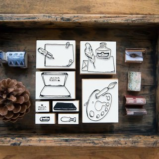 Stationery No. 1 DIY Rubber Stamp Set - OURS Color Atelier Series