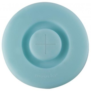 Muurla enamel cup silicone lid gift exchange Christmas gifts (light blue)