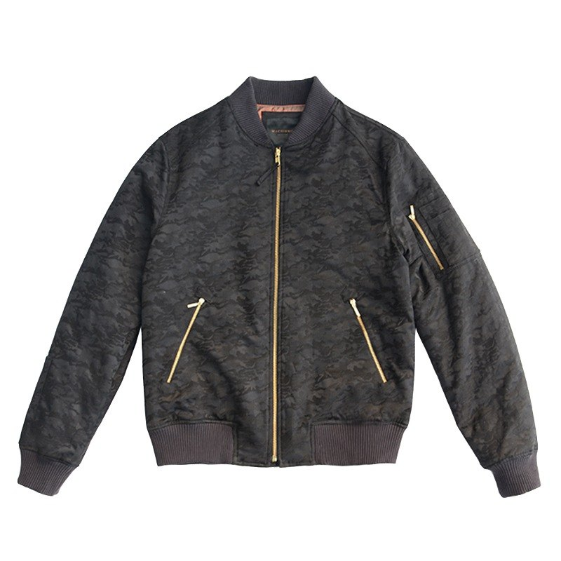 MA-1 Black Camouflage Flight Jacket