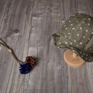 sasai_free shaping hat with brim.olive