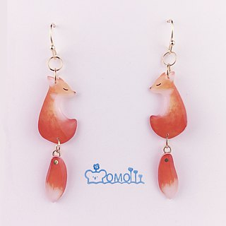 A pair of foxtail Earrings