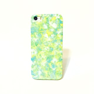 Ice Cream Series ll TiffanyBlue BabyYellow ll Hand-painted oil painting phone case