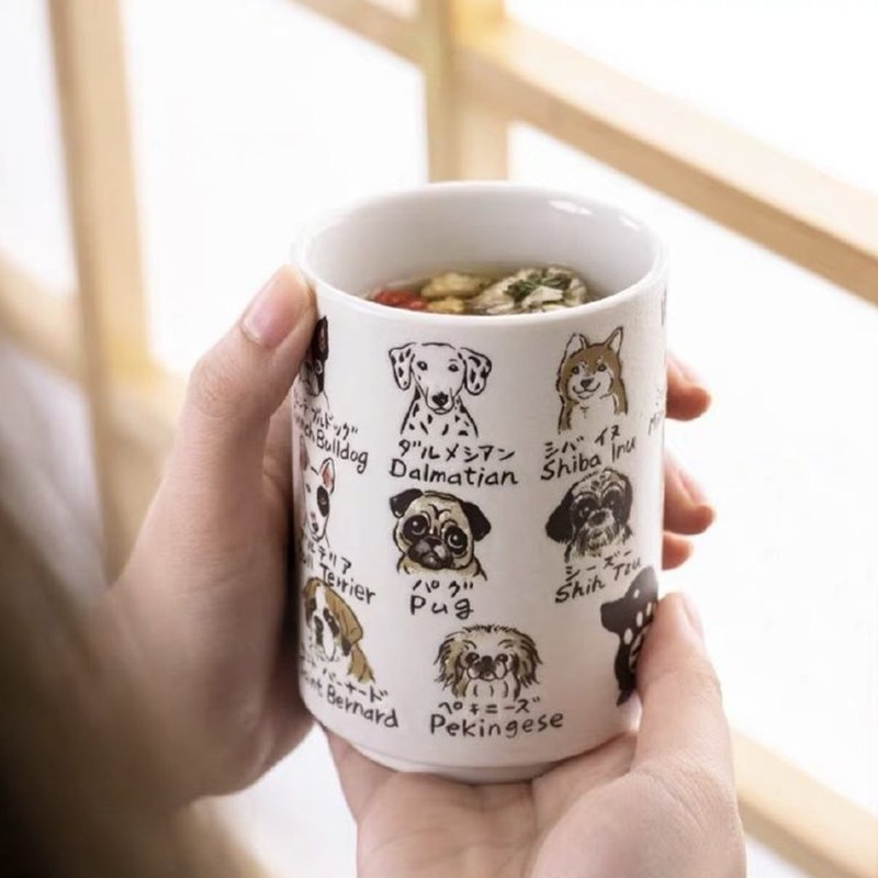 13 cats/dogs and cups made in Japan