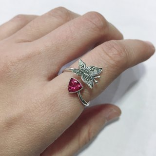 Triangle shape Tourmaline Finger Ring Handmade in Nepal 92.5% Silver