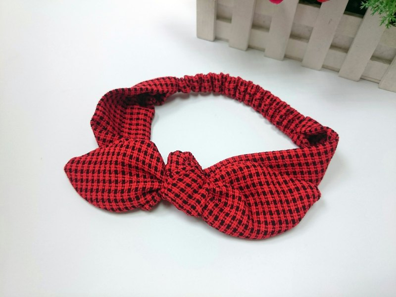 Plaid rabbit ear band*sk*
