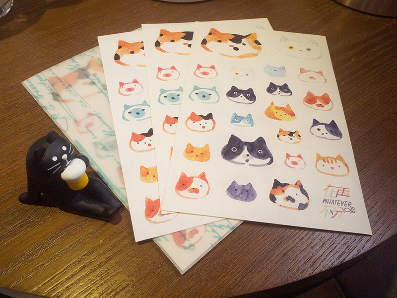 Lots of cats and paper knife mold stickers by Lynne