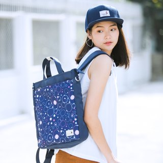 Bubble Dot Journey Tote Backpack 3 ways 背包 | Made from printed polyester fabric