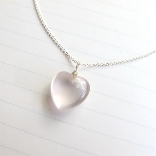 [Pink Love] Pink Crystal x 925 Silver Chain - Handmade Natural Stone Series