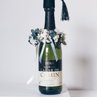 Bottle Flower! [Hermes God of Messenger] Dry Flower Wine Tied Flower Graduation Gift