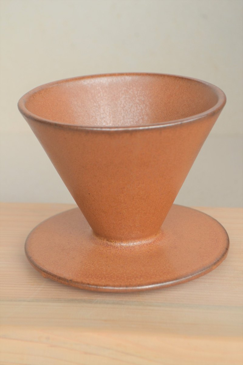 Guest Qiqiu Qiufeng orange conical six short rib filter Cup 01 paragraph