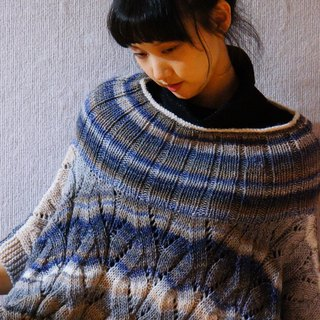 Limited hand knit blouse shawl sweater