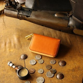 日本製造 硬幣錢包 牛皮 栃木皮革製作 褐色 made in JAPAN handmade leather wallet coincase