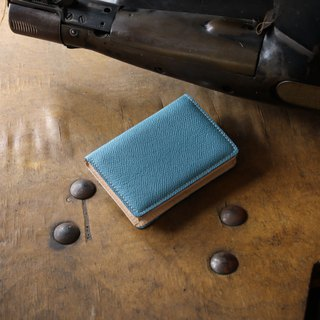 日本製造 牛皮 名片夾 名片盒 天藍 Weinheimer made in JAPAN handmade leather card case