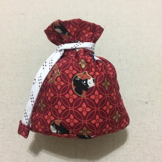 Mini bundle pocket with bottom pocket - red come cat