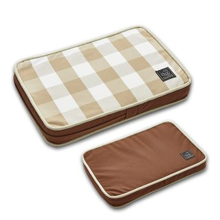 Lifeapp Pet Relief Sleeping Pad Large Plaid---XS (Brown White) W45 x D30 x H5 cm