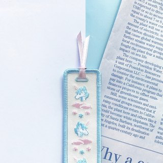 Unicorn KUZA unicorn cool cut] - Embroidery bookmark - baby blue