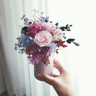Birthday Opening Ceremony Flower Selection Violet Purple Pink Rose Carnation Hydrangea Flower Eternal Flower Flower Table Flower