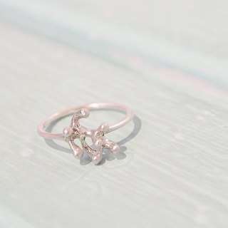 [Chapelon Silver Dolls] Ocean Wind Simple Silver Ring -925 Handmade Creative Silver Ring Handmade Silverware
