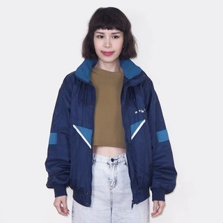 Dark blue retro windproof vintage jacket BM3015