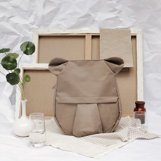 ORIBAGU origami brown bear backpack bag _