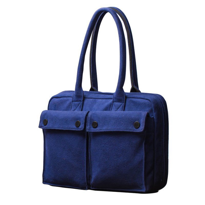 "PEPPER&SALT│POLO Brief 13"" With Terry Fleece (Elegant Blue)"