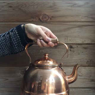 Portuguese red copper kettle