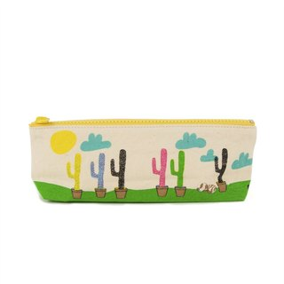 Canada Fluf Organic Cotton 【Pencil Bag/Life Tool Bag】--Cactus