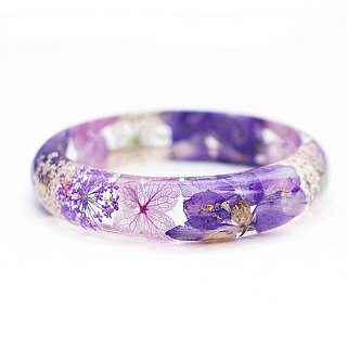FlowerSays / Delphinium Real Flower Bracelet / Purple Collection / Eternal Flowe