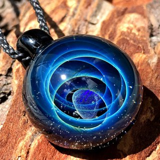boroccus  Opal  The blue galaxy design  Thermal glass  Pendant.