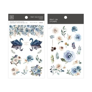 [Print-On Stickers]| Flowers Series 32-Blue Night Roses |